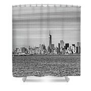 New York City From The Staten Island Ferry Shower Curtain