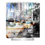 New York City Geometric Mix No. 9 Shower Curtain
