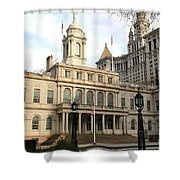 New York City Hall Shower Curtain