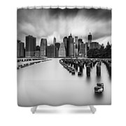 New York City In Black And White Shower Curtain