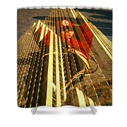 New York City Jogger - Collage Shower Curtain