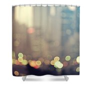 New York City Lights At Dusk Shower Curtain