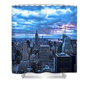New York City Looking South Shower Curtain