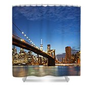 New York City Manhattan Skyline Panorama Shower Curtain
