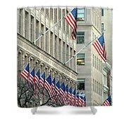 New York City Patriotism Shower Curtain