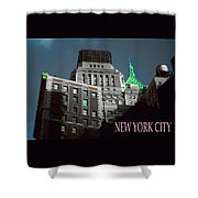 New York City Poster - Wall Street Shower Curtain