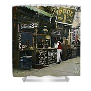 New York City Restaurant Shower Curtain