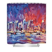 New York City Skyline 02 Shower Curtain