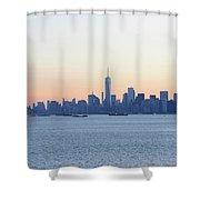 New York City Skyline At Sunrise  Shower Curtain