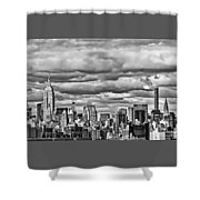 New York City Skyline B And W Shower Curtain