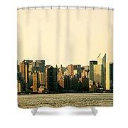 New York City Skyline Panorama Shower Curtain