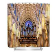 New York City St Patrick's Cathedral Organ Shower Curtain