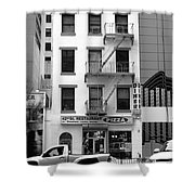 New York City Storefront Bw5 Shower Curtain