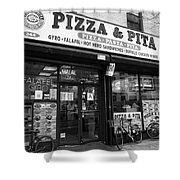 New York City Storefront Bw6 Shower Curtain