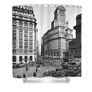 New York City Street Scene Shower Curtain