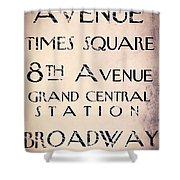 New York City Street Sign Shower Curtain