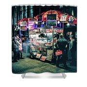 New York City Street Vendor Shower Curtain