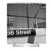 New York City Subway 86 Street Shower Curtain by Ranjay Mitra