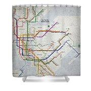 New York City Subway Map Shower Curtain