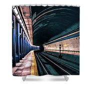 New York City Subway Station Shower Curtain