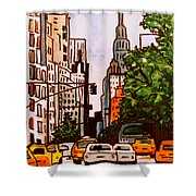 New York City Taxis Shower Curtain