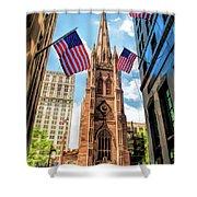 New York City Trinity Church Shower Curtain