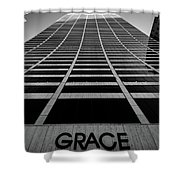 New York City - W. R. Grace Building Shower Curtain