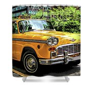 New York City Yellow Checker Taxicab Shower Curtain