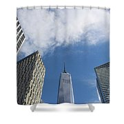 New York City's Freedom Tower - A Perspective Shower Curtain