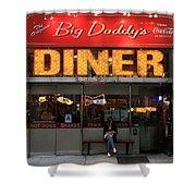 New York Diner 1 Shower Curtain