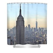 New York Empire State Building Shower Curtain