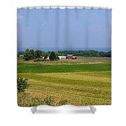 New York Farmland Shower Curtain