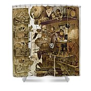 New York: Fire Escapes Shower Curtain