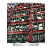 New York Fire Escapes Shower Curtain