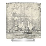 New York From Ellis Island Shower Curtain