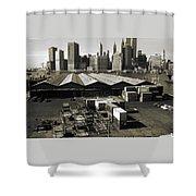 Old New York Harbor Skyline Shower Curtain