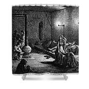 New York: Homeless, 1873 Shower Curtain