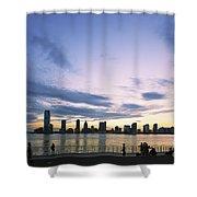 New York Hudson River Shower Curtain