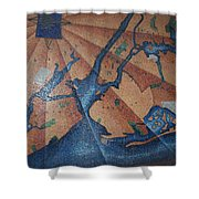 New York In Mosaic Shower Curtain