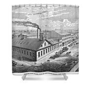 New York: Iron Works, 1876 Shower Curtain