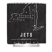 New York Jets Art - Nfl Football Wall Print Shower Curtain by Damon Gray
