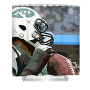 New York Jets Football Team And Original Yellow Typography Shower Curtain