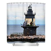 New York Lighthouse-3 Shower Curtain