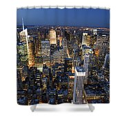 New York Lights Shower Curtain