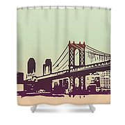 New York Manhattan Bridge Shower Curtain