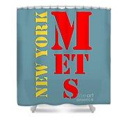 New York Mets Baseball New Typography Shower Curtain