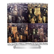 New York Mid Manhattan Medley - Photo Art Poster Shower Curtain