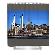 New York Mid Manhattan Skyline Shower Curtain