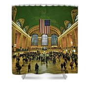 New York Minute Shower Curtain