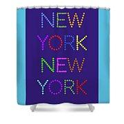 New York No 5  Shower Curtain